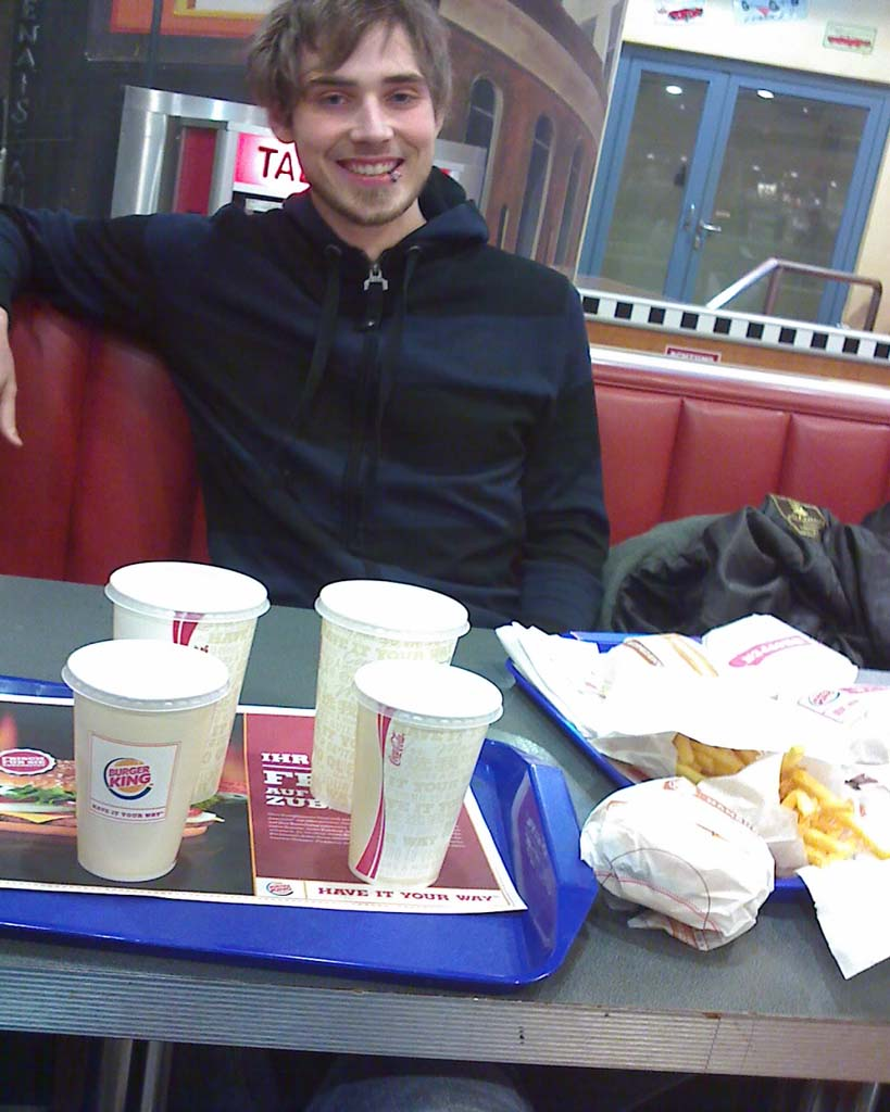 Steve im Burger King