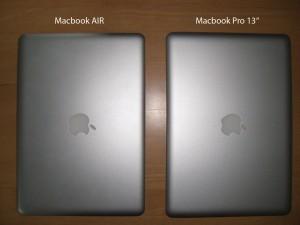 "Macbook AIR vs Macbook Pro 13"""