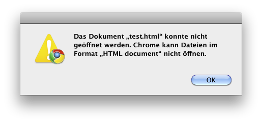 Chrome cannot render HTML