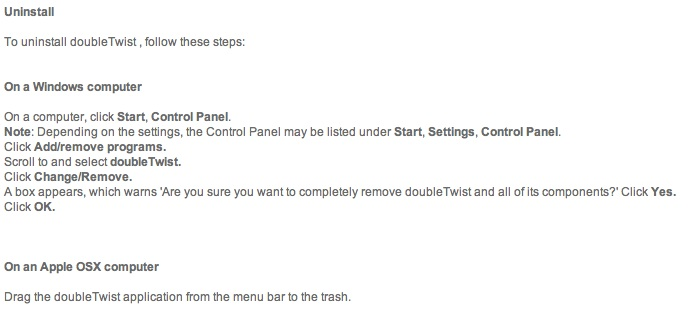 Mac vs Win: Uninstall instructions